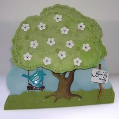 Mel Stampz: { Flyin' By } LPS release! Tree & Tree House swing card (template & tutorial)