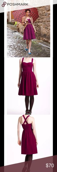 "Anthropologie Paca Halter Dress Corduroy Plum $148 Anthropologie HD in Paris Paca Halter Dress Corduroy Plum Sz 10   Fit-and-flare is always one of our favorite silhouettes; give us a nipped waist and we're happy. Top this cord version from HD in Paris with a shrunken cardi for a retro-modern look.  By HD in Paris Removable, adjustable straps  Back zip Cotton corduroy; acetate lining  Machine wash  Regular: 32.5""L Anthropologie Dresses"