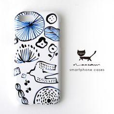 鳥とぶ iphoneハードケース-blue