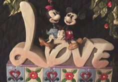 """By Cathy Leo      You have to ask yourself """" was it love at first sight """" ? Everyone knows that Minnie was Mickey's first and only love . It was around 1928 in Steamboat Willie that they made their first appearance together. That's a long ..."""