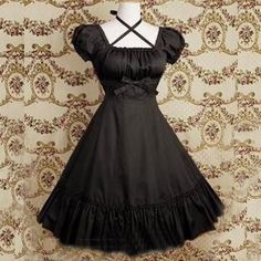 I found 'Handmade Black Ruffles Lolita Dress With Front Bow (Made to Order)' on Wish, check it out!