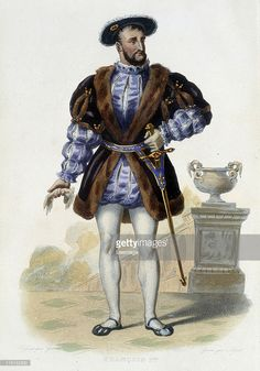 Fine art : Francois I. Portrait of Francois I 1494-1547. Engraving in Le Plutarque Francais, Mennechet edition, 1844-1847.
