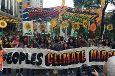 Awe-Inspiring Moments From the Biggest Climate Change March in History – karen donofrio – climate change protest Climate Adaptation, Dot Org, How To Make Banners, Banner Stands, Flocking, Embedded Image Permalink, Ecology, Mother Earth, Climate Change