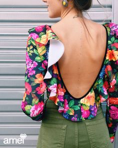 Body manga longa ✨ #lojaamei #body #babado #colorido #floral #lindo #costas