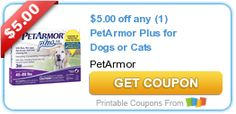 $5.00 off any (1) PetArmor Plus for Dogs or Cats