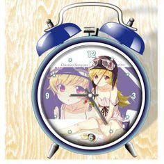 Bakemonogatari Anime Colorful Design Twin Bell Alarm Clock, Blue by XINGQU. $19.99. Twin bell alarm clock. The pattern content:bakemonogatari. It needs:2 AA batteries. 18cm(H) 12cm(w) diameter:10cm. The bell:on/off. Be made with high quality,Metallic paint surface?with lifelike pattern, It's very popular to give the children or anime fans as a gift!