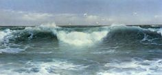 Incoming Tide, Sunset St Ives , 1895         Simplicity is power. A minimal composition consisting of a single breaker forming a white cres...