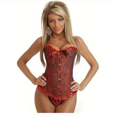 Apple Curves Lace Up Bustier
