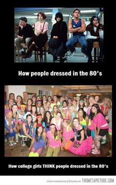 People from the 80s…
