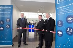 Aviation Minister, Robert Goodwill MP, officially opened Stansted Airport's new and improved 22 lane security search area, the first phase of Stansted's million project to transform the terminal building and improve the passenger experience.