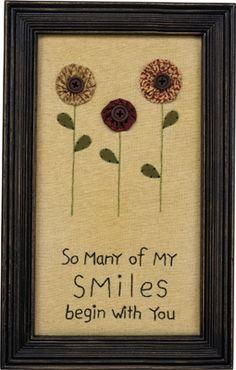 Item # 30099 | Stitchery - My Smiles | Primitives by Kathy