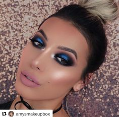 Electric Blue Eye goals from @amysmakeupbox wearing Multitasker Pencil in 'Greek Blue'! Don't forget our #BlackFriday sale has begun - Spend £60 and Save £15. Use Code: OVER60. . . . #mua #bbloggers #makeupartist #amysmakeupbox #blueeyeliner #makeupgoals #makeupjunkies #girlsdayout #makeupinspo