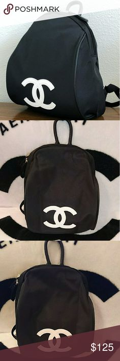 """Brand new Authentic Chanel VIP gift backpack Brand new Authentic Chanel VIP gift backpack from Asia.   Material Nylon Size 12"""" x8"""" x6""""   Brand new comes with original packaging. This bag is a gift with purchase bag from cosmetic line and promotion item do not contain hologram or code and not sold in stores  No offers only one left price is firm  SOLD OUT  Flash Sale is over for now If you don't purchase during g a flash Sale you missed out  No offers Price is firm Bags Backpacks"""