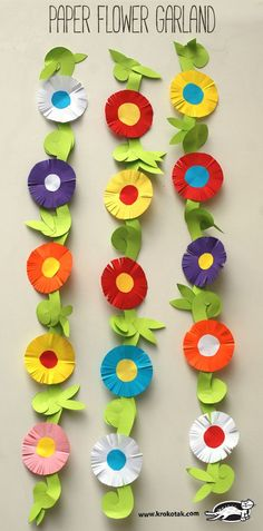 Paper Flower Garland | Spring Paper Craft for Kids