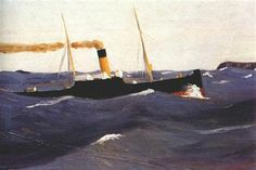 """""""Tramp Steamer"""", 1908 - Edward Hopper"""