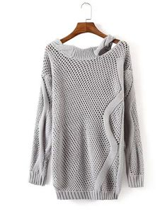 Shop Crisscross-Back Cable Knit Jumper online. SHEIN offers Crisscross-Back Cable Knit Jumper & more to fit your fashionable needs. Cute Sweaters, Winter Sweaters, Pastel Sweaters, Autumn Jumpers, Sweaters Knitted, Oversized Sweaters, Women's Sweaters, Cashmere Sweaters, Cable Knit Jumper