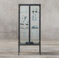 Circa 1900s Steel & Glass Surgeon's Cabinet  x 2 for breakfast / dining area