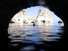 Photo from inside a cave in Kleftiko during a POLCO Sailing cruise.  www.polco-sailing.com