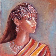 Tableau illustrant une femme Kabyle