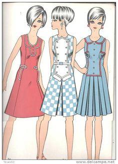 figurines de moda años 60 - Buscar con Google
