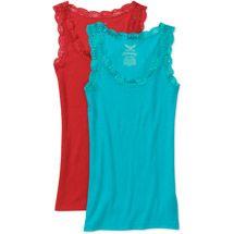 Walmart: Faded Glory Women's Rib Lace Tank 2-pack