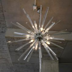 Murano Glass Sputnik Hanging Lamp, Italy | From a unique collection of antique and modern chandeliers and pendants  at https://www.1stdibs.com/furniture/lighting/chandeliers-pendant-lights/