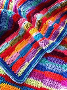 Ribbon afghan