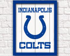 INDIANAPOLIS COLTS - rustic handmade painted sign - Indianapolis Colts fan wall sign - Fathers Day gift for Dad