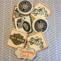 Harley Davidson sugar cookies motorcycles