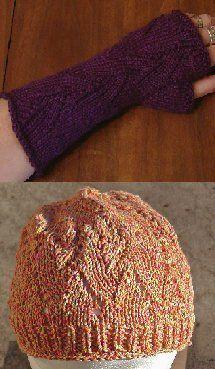 Fireball Hat and Fingerless Gloves