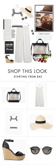 """""""Dreaming..."""" by nadi ❤ liked on Polyvore featuring Zara, MANGO, Moncler and Tory Burch"""