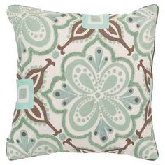 Alhambra Embroidered Pillow - Seafoam and Taupe At Home Furniture Store, Pillow Arrangement, American Decor, Couch Pillows, Room Themes, Home Decor Trends, Home Decor Outlet, Sea Foam, Shabby Chic Furniture