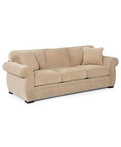 Devon Fabric Sofa, 96W x 38D x 29H - Couches & Sofas - furniture - Macys $799