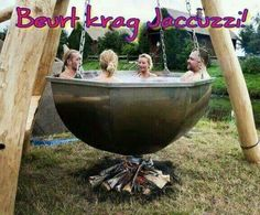 Boiler Pot Hot Tub There is Jacuzzi and jacuzzi . You can also visit our sauna, jacuzzi and steam Outdoor Spaces, Outdoor Living, Outdoor Decor, Outdoor Baths, Outdoor Hot Tubs, Outdoor Fire, Garden Cottage, Garden Hoe, Diy Garden