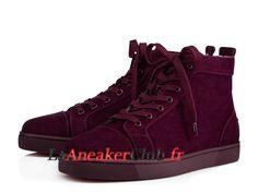 54bd198087f Christian Louboutin Louis Flat Chaussures Officiel Basket Pas Cher Pour  Homme Rouge 1110329L073 - 1110329L073 -