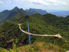 Aerial view of Matcincang Mountain in Langkawi
