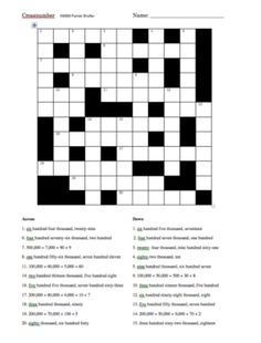 Number Crossword Puzzle #2   ABC 123   Pinterest   Math, Brain and ...