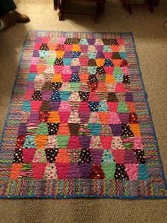 I found this amazing quilt at the Accuquilt Quilters Spotlight. See Show-and-Tell from other quilters or share your favorite. Scrappy Quilts, Easy Quilts, Mini Quilts, Quilting Projects, Quilting Designs, Sewing Projects, Diy Projects, Patch Quilt, Quilt Blocks