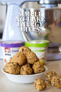 These simple no-bake energy bites are a quick and easy recipe to whip up for a new way to energize your morning.
