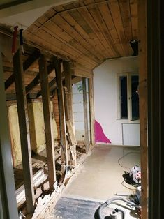 The attic project continues.  Tearing stuff apart is a reverse...