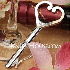 Bottle Favors - $2.69 - Heart Accented Key Bottle Opener Favors (052013743) http://jenjenhouse.com/Heart-Accented-Key-Bottle-Opener-Favors-052013743-g13743
