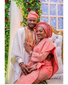 Morenike Eric Photo Event Planning & Styling: Decor For more wedding news and gist use the link on our bio. African Fashion Ankara, African Wear, African Attire, Ethnic Fashion, Fashion Women, Nigerian Traditional Wedding, Traditional Wedding Attire, Muslim Nikah, African Lace Styles