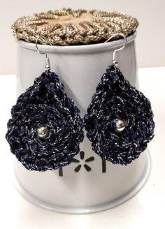 Teardrop Earrings, Boho Earrings, Earrings Handmade, Crochet Earrings, Handmade Jewelry, Leaf Shapes, Etsy Shop, Handmade Jewellery, Jewellery Making
