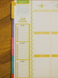 Task List Sticker, Five Stickers - EC Life Planner - totally life changing
