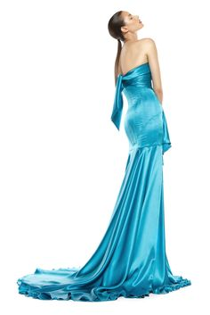 Silk satin evening gown Strapless Dress Formal, Formal Dresses, Silk Satin, Evening Gowns, Austria, Designers, Fall, Winter, Fashion