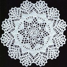 Winter's first snow is the name of this doily - new to me and I'm pretty old!! (grin).