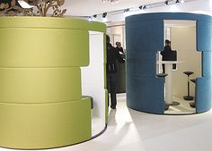"Bene presented in 2010 ""Toguna"", a booth for short meetings by Luke Pearson and Tom Lloyd, photo © Dimitrios Tsatsas, Stylepark"