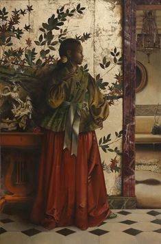 Painter Makes Beautiful Past for Black Women Jennie Ma History Of Wine, Art History, Ancient History, Illustrations, Illustration Art, Laurel Tree, African American Museum, Paintings Famous, African Paintings