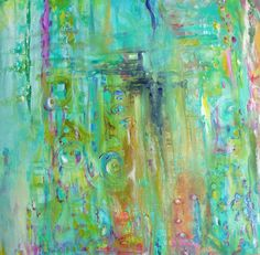 floracolor....Large Original Abstract painting by by annielockhart