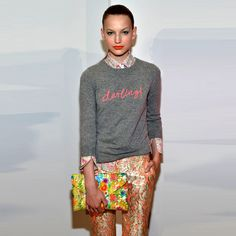 J. Crew understands what's happening. Spring Sweaters with Darling stitched across the chest. SCORE.